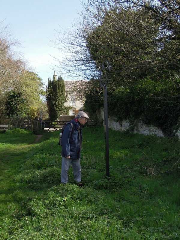 Here Colin looks at his memorial. See the link at the bottom for more details