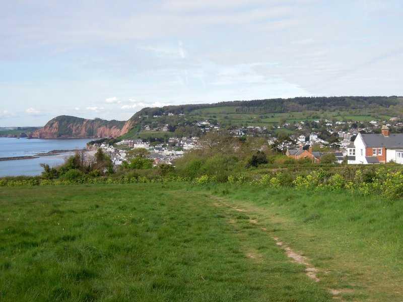 Climbing up the coast path