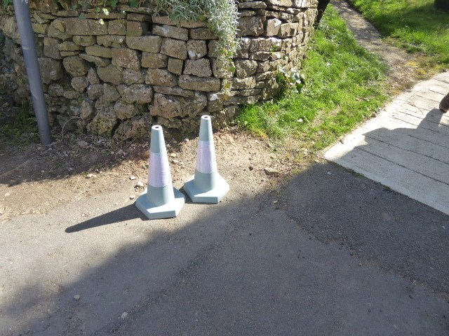 Even the traffic cones are tastefully coloured in Miserden