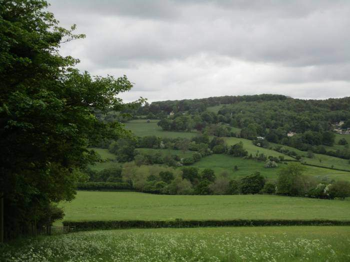 Looking across to the A46