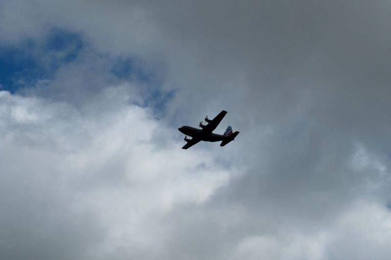 Where we are treated to a fly past of our airforce