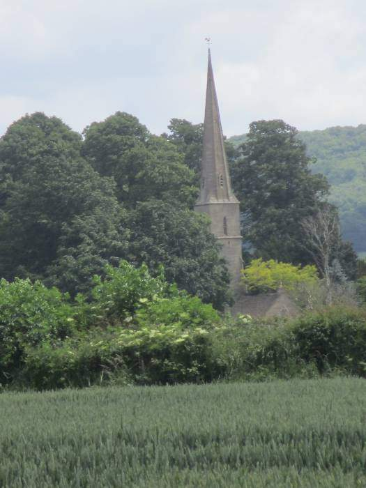 Standish church in sight