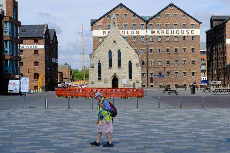 With its Mariners Chapel  and warehouses - no, she is not with us