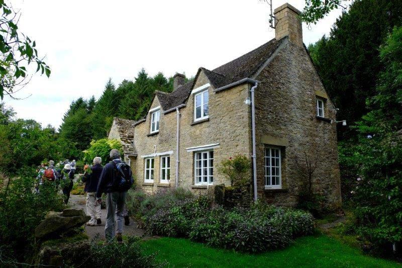 Past a cottage