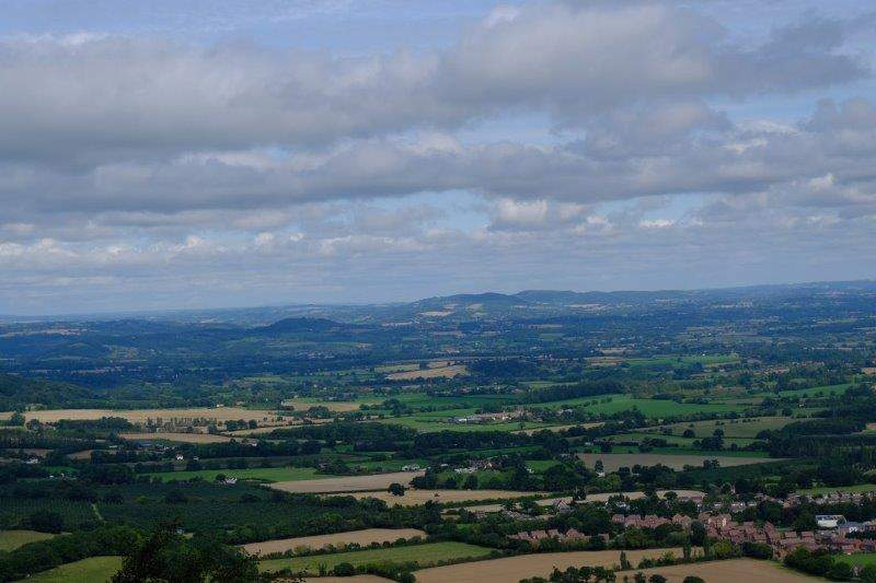 As we round the hill we look up the valley to Shropshire