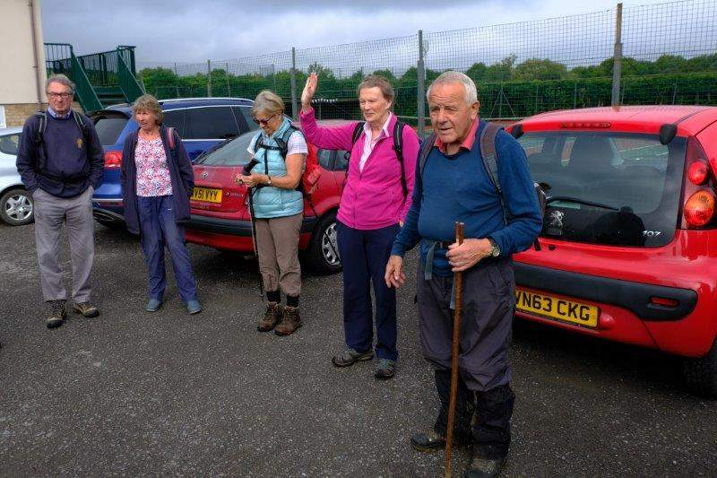 Mike is ready for the off as he prepares to take us to the motorway  service area