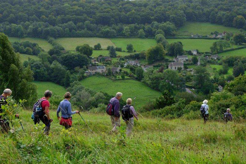 Our route then taking us across Sheepscombe Common and back to the village