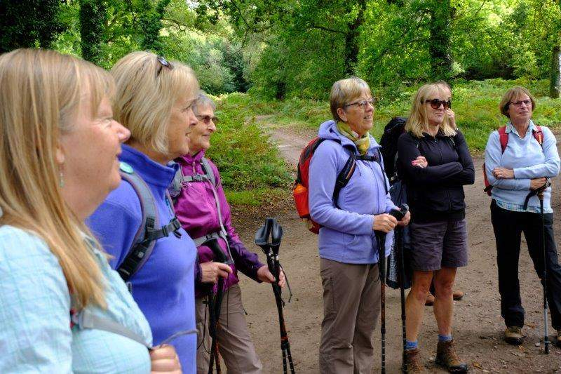 Rapt attention from the ladies as Mike gives a pre walk talk