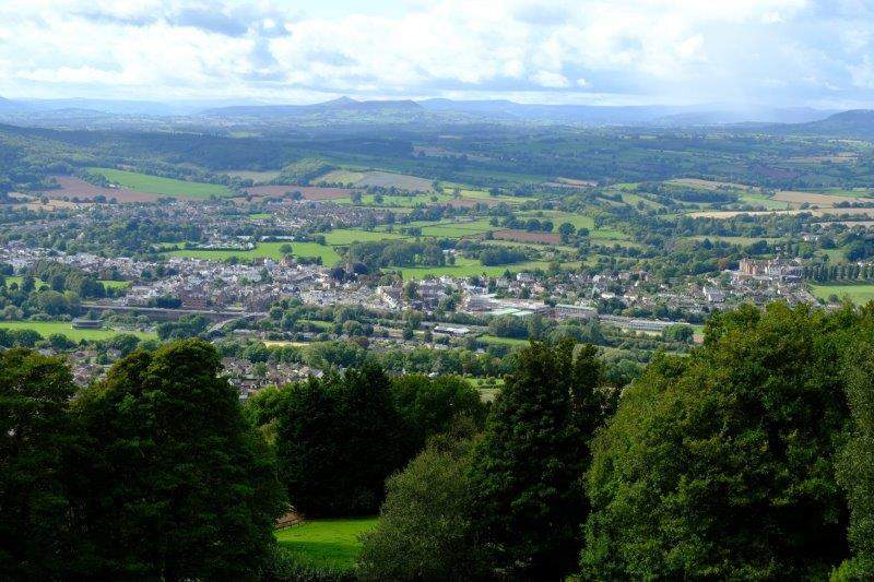 We now have views to the Brecons and down to Monmouth