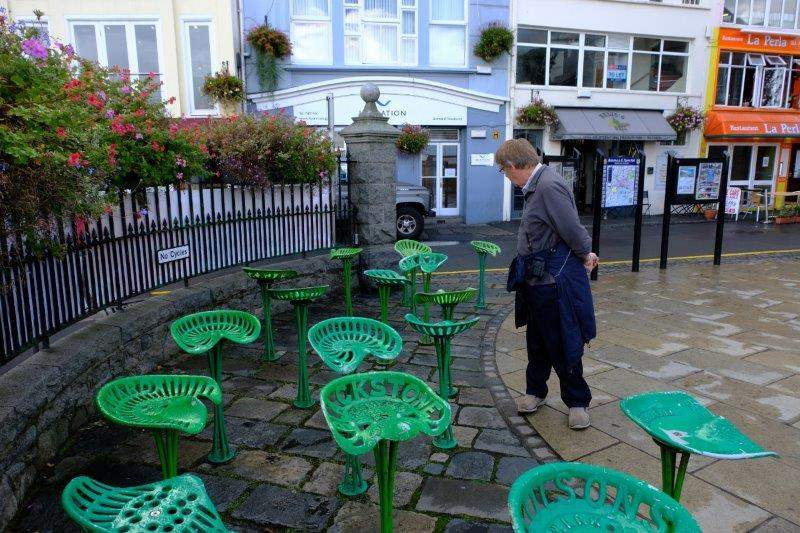 Pat draws our attention to a bit of street sculpture