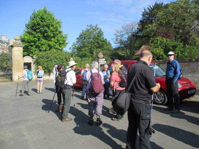 A good turn out for Olivia's Bredon Hill walk