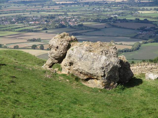 The Banbury Stone elephant - I missed getting a photo of Peter sitting on it!