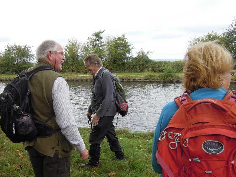 We emerge onto the canal bank