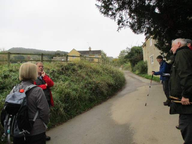 At Stanley Pontlarge Patrick points out the former home of L.T. Rolt who wrote about canals and heritage railways