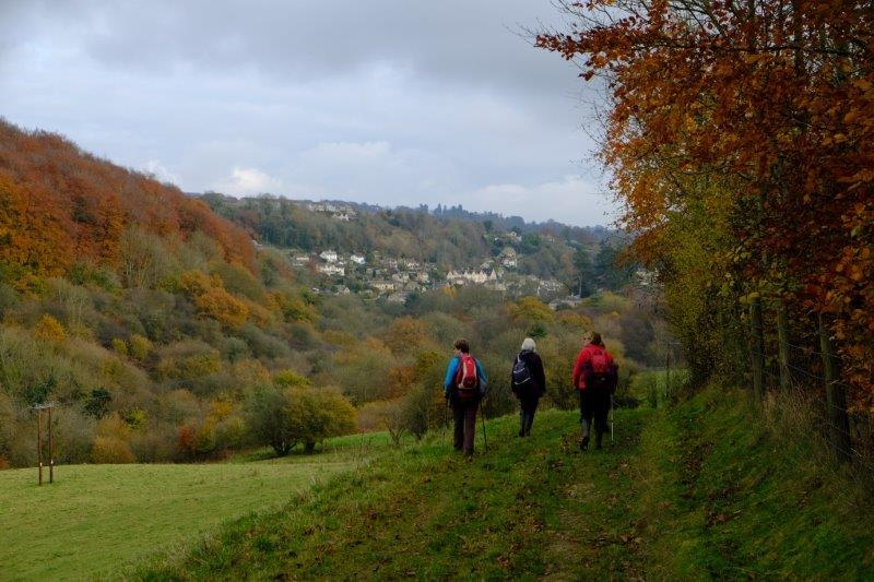 Newmarket in front of us as we make our way down into the valley