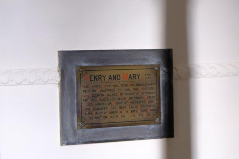 Memorial plaques to Enry and Ary in the church