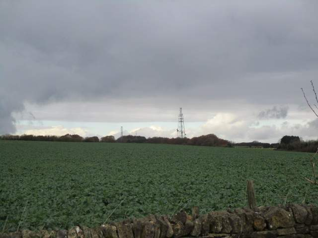 We look across fields at this interesting sky