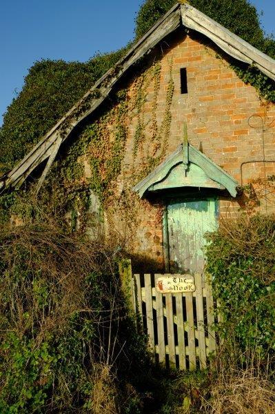 A tumbledown cottage