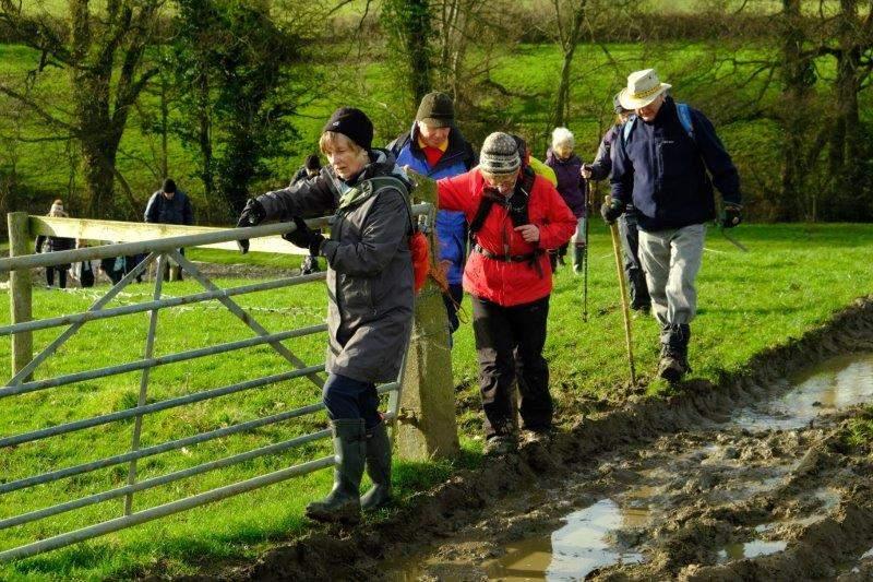 Picking our way round more mud