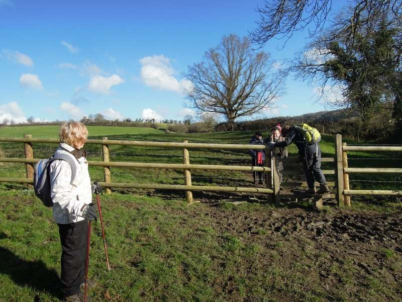 Another stile, another muddy landing