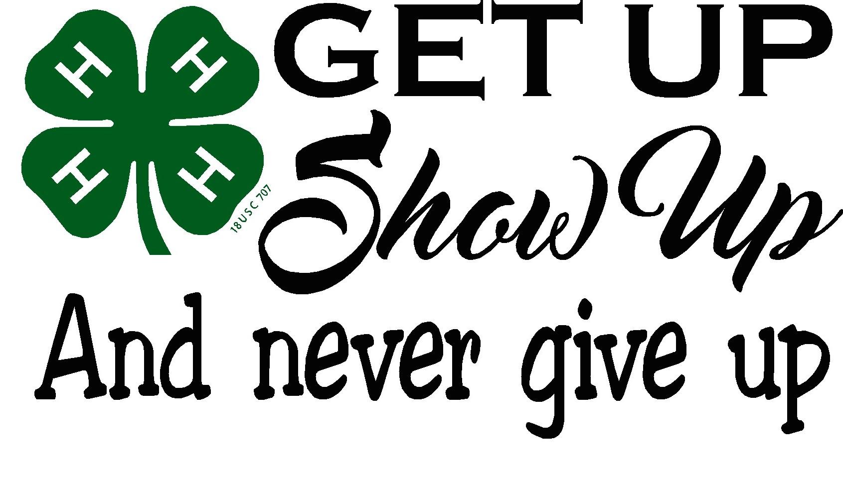 get up show up [ 1691 x 958 Pixel ]