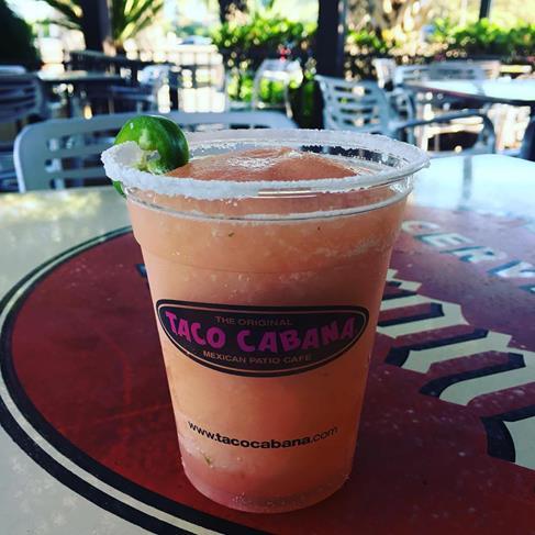 Taco Cabana Jalapeno Infused Guava Margarita