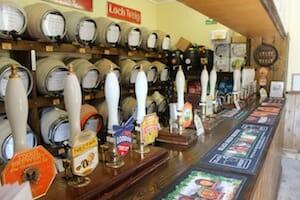 Bar with beer pumps.
