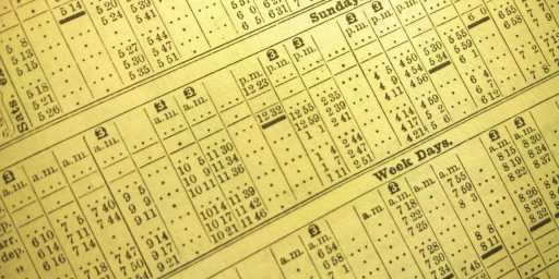 Picture of a time table