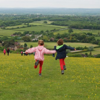 Children in the South Downs