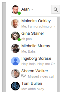 Google+ Hangouts from within Gmail