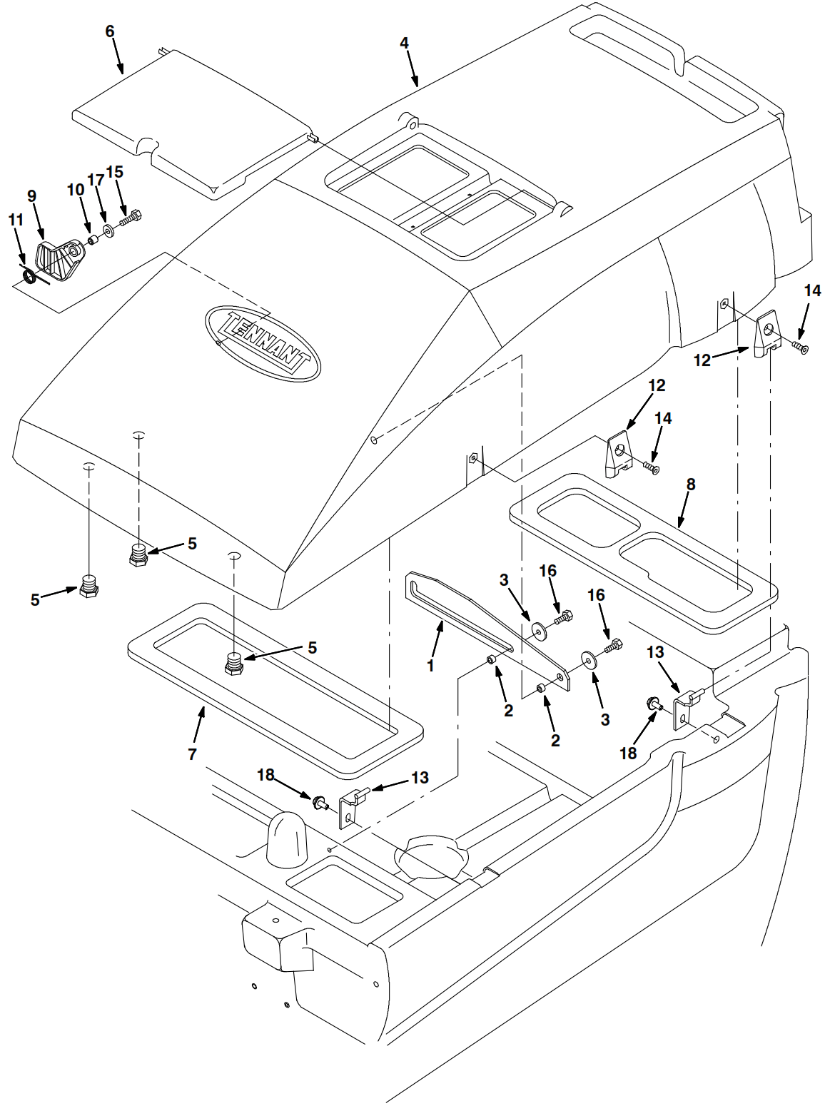 Tennant Parts And Diagram
