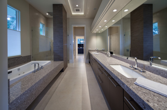 drop in kitchen sinks counter height table silestone alpina white master bath & tub deck
