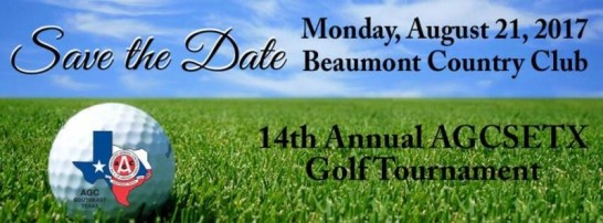 AGC Golf Tournament Beaumont, AGC Golf Tournament Southeast Texas, SETX AGC Golf Tournament, 2017 AGC Golf Tournament Beaumont TX