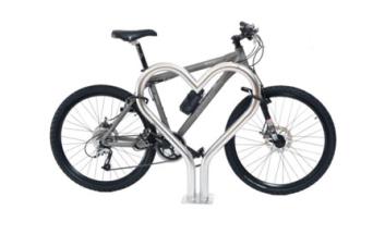 Bicycle demonstrating heart rack