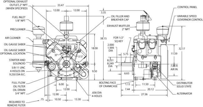 Wisconsin Vh4d Engine Diagram, Wisconsin, Free Engine