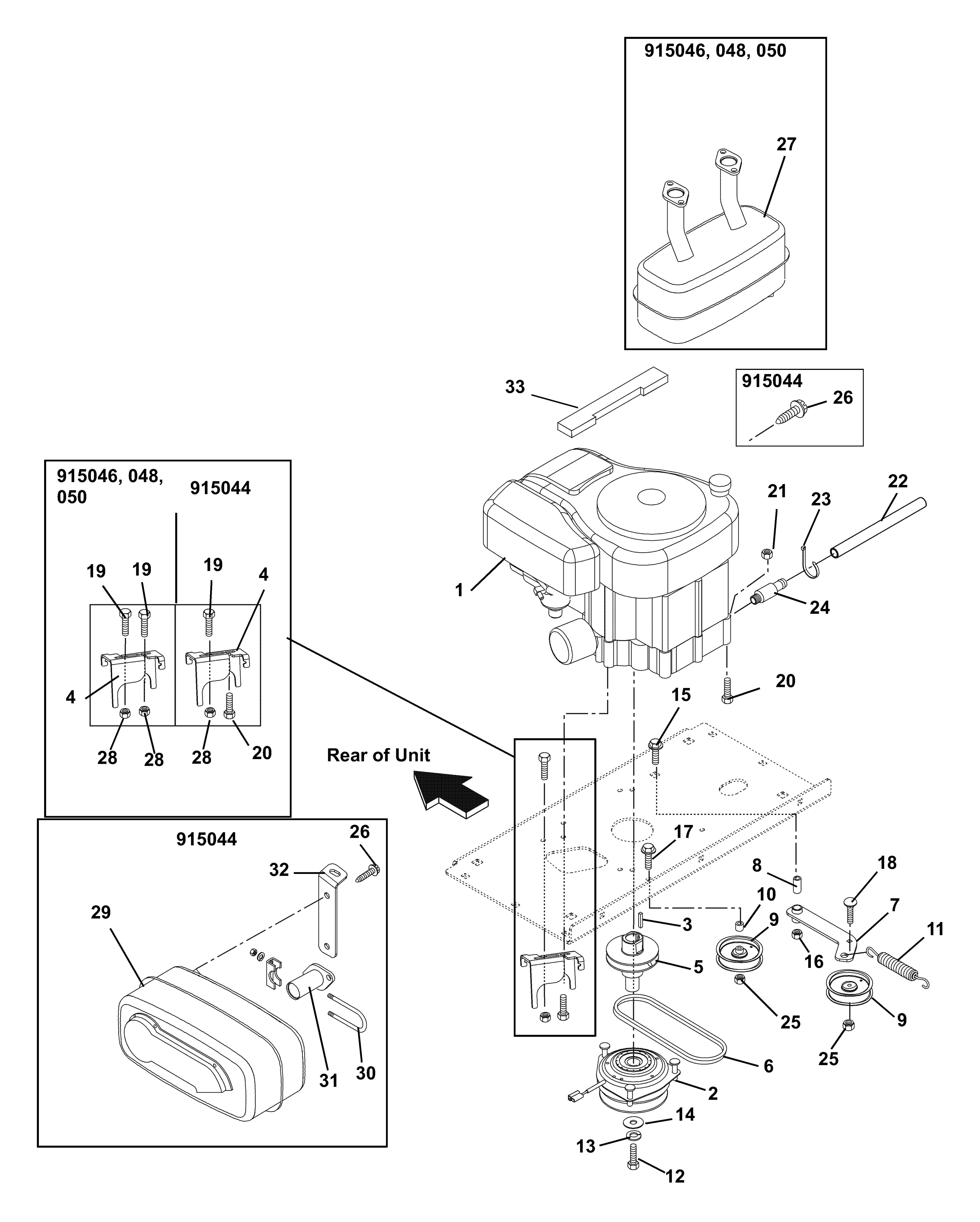 Engine Exhaust Belts And Idlers