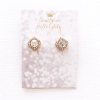 Southern Belle Glitz Gold Glitz Stud Earrings