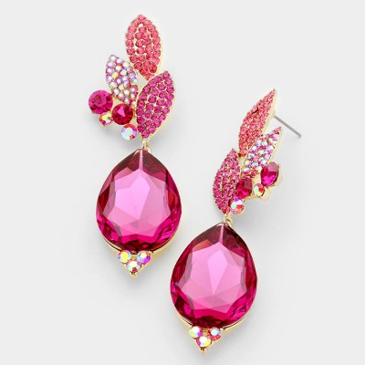 Southern Belle Glitz Annaliese Fuschia Earrings