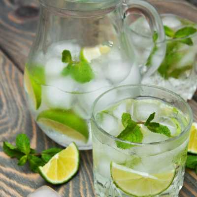 Detox Water Recipe (Lemon, Lime, Cucumber, and Mint Water)