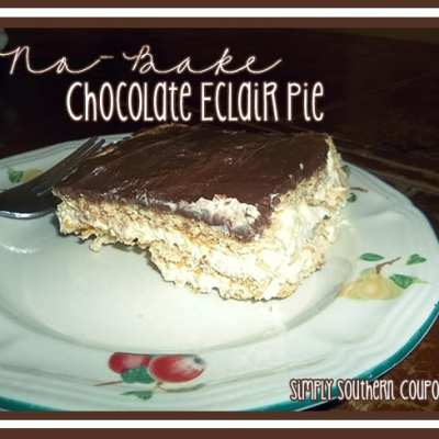 No-Bake Chocolate Eclair Pie