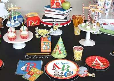"""P"" is for Party! Dr. Seuss ABC Birthday Party from Birthday Express!"
