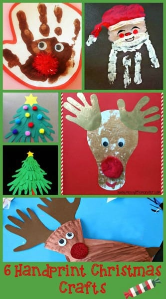 6 Handprint Christmas Crafts
