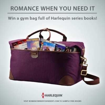 Win a Hartmann'Luxe' Herringbone Weekend Duffel filled with 24 Harlequin Series Titles! 5/17