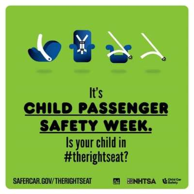 Let's Talk About Child Passenger Safety Week! #TheRightSeat