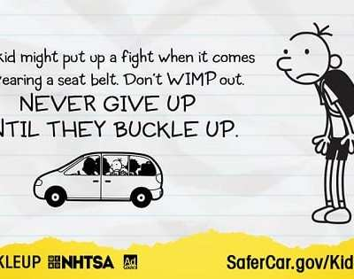 Child and Tweens Car Seat Safety Information #KidsBuckleUp