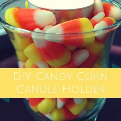 DIY Candy Corn Candle Holder