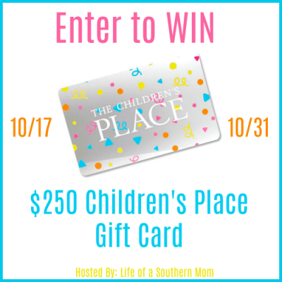 Enter to WIN a $250 Gift Card to The Children's Place! Ends 10/31