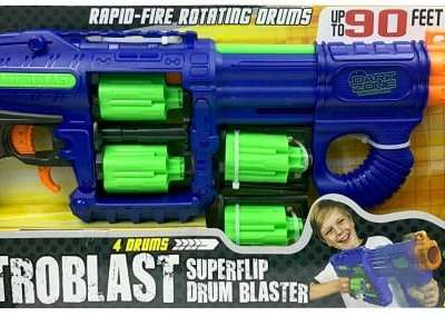 The Dart Zone Quatro Blast Super Flip Blaster