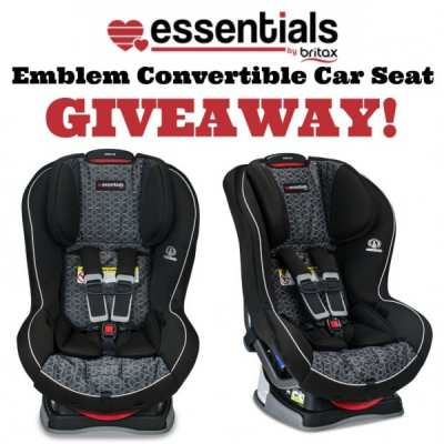Essentials by Britax Emblem Car Seat Giveaway! Ends 2/22- Expired