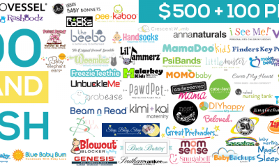 Win $500 CASH Giveaway + 100 baby and kids prizes! 15 WINNERS! Ends3/16